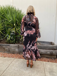 Botanical Chiffon Dress