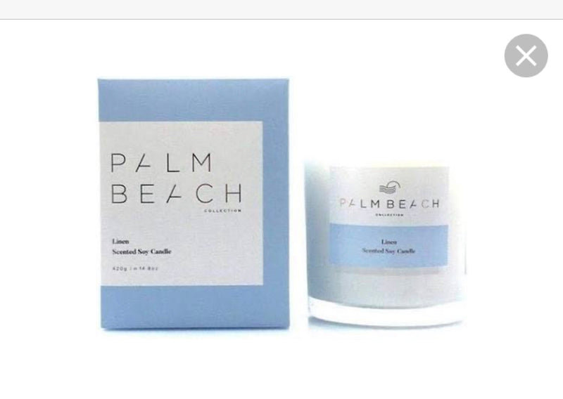 Palm Beach Linen Candle