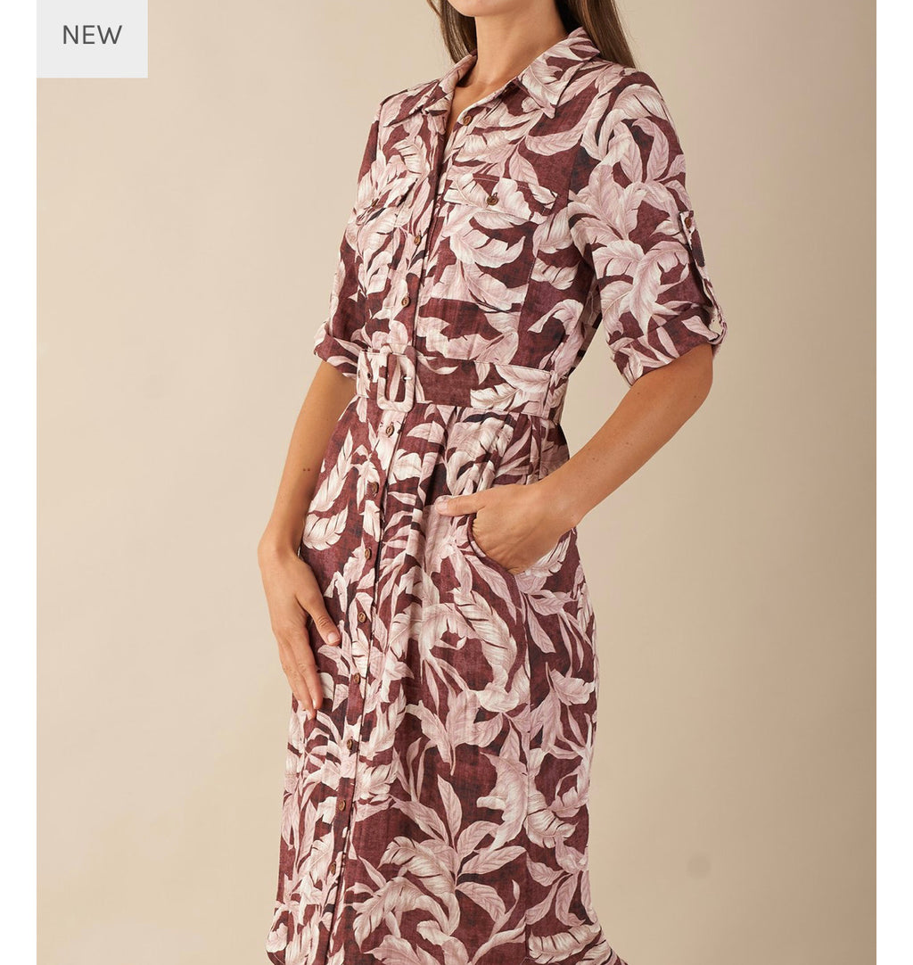 Desert palm shirt dress