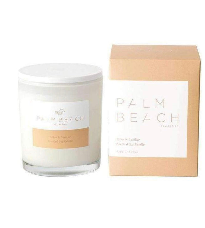 Palm Beach Lillies & Leather Candle