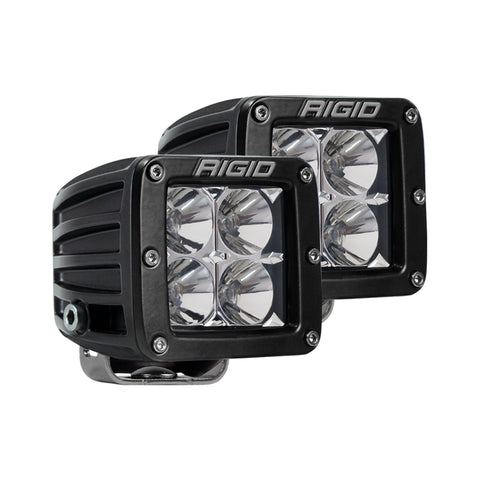 Rigid Industries D Series Pro Flood Surface Mount Black Lights (Pair)