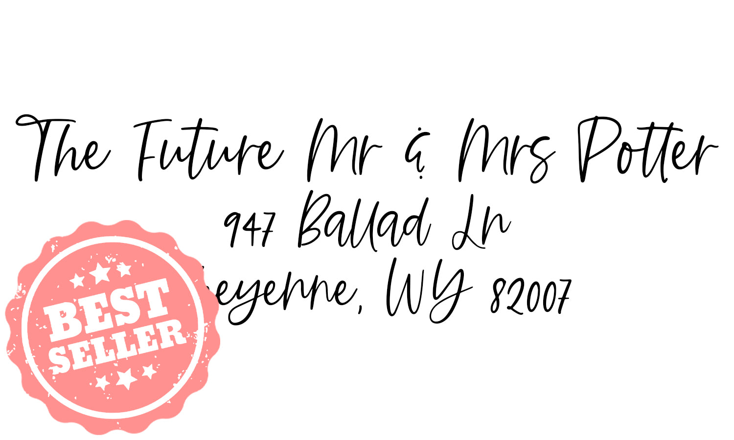 The Future Mr. & Mrs. Address Stamp