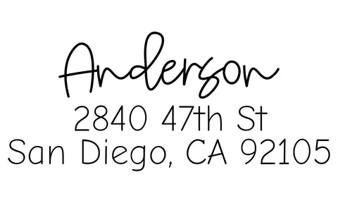 Anderson Address Stamp