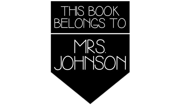 Book Banner Teacher Stamp