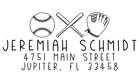 Baseball Address Stamp