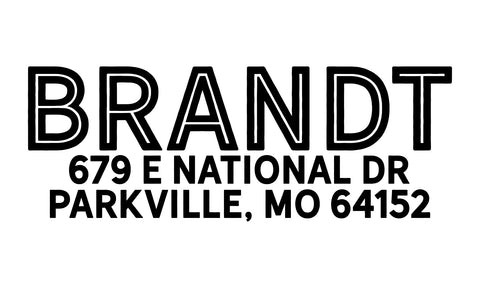 Brandt Address Stamp