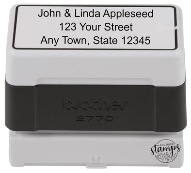 Large Pre-Inked Address Stamp