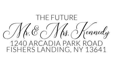 The Future Mr. & Mrs. Fancy Address Stamp