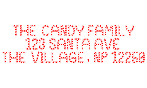 Candy Cane Address Stamp