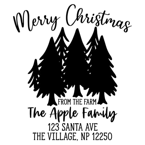 Merry Christmas from the Farm Address Stamp