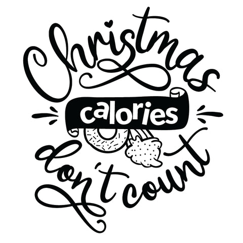 Christmas Calories Don't Count Stamp