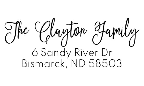 Clayton Address Stamp