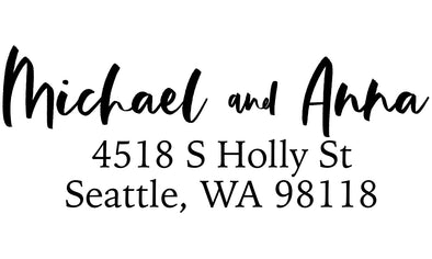 Cute Couple Address Stamp
