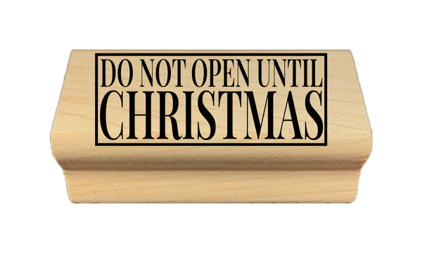 Do Not Open Until Christmas Stamp