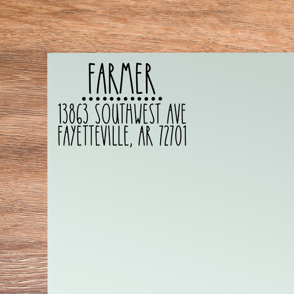 Farmer Address Stamp