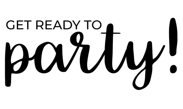 Get Ready to Party Wedding Stamp
