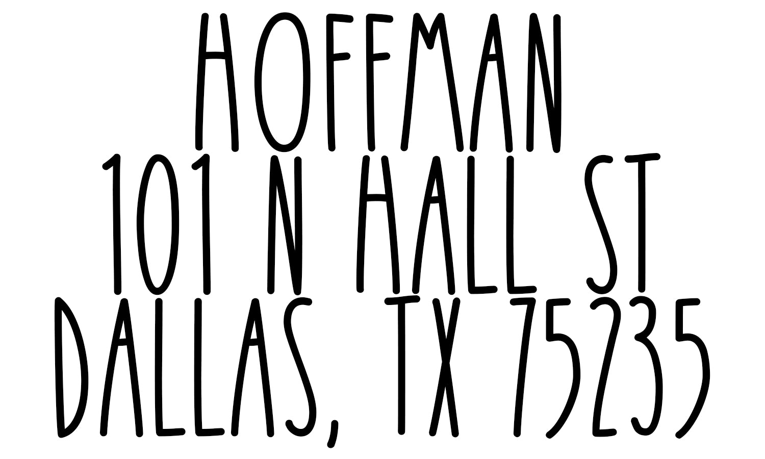 Hoffman Address Stamp