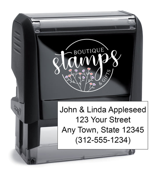 4 Line Address Stamp