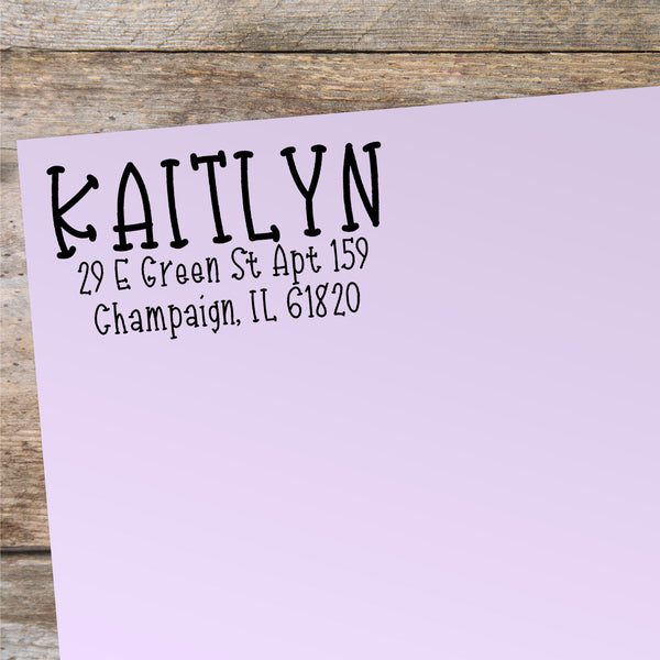 Kaitlyn Address Stamp