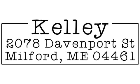 Kelley Address Stamp