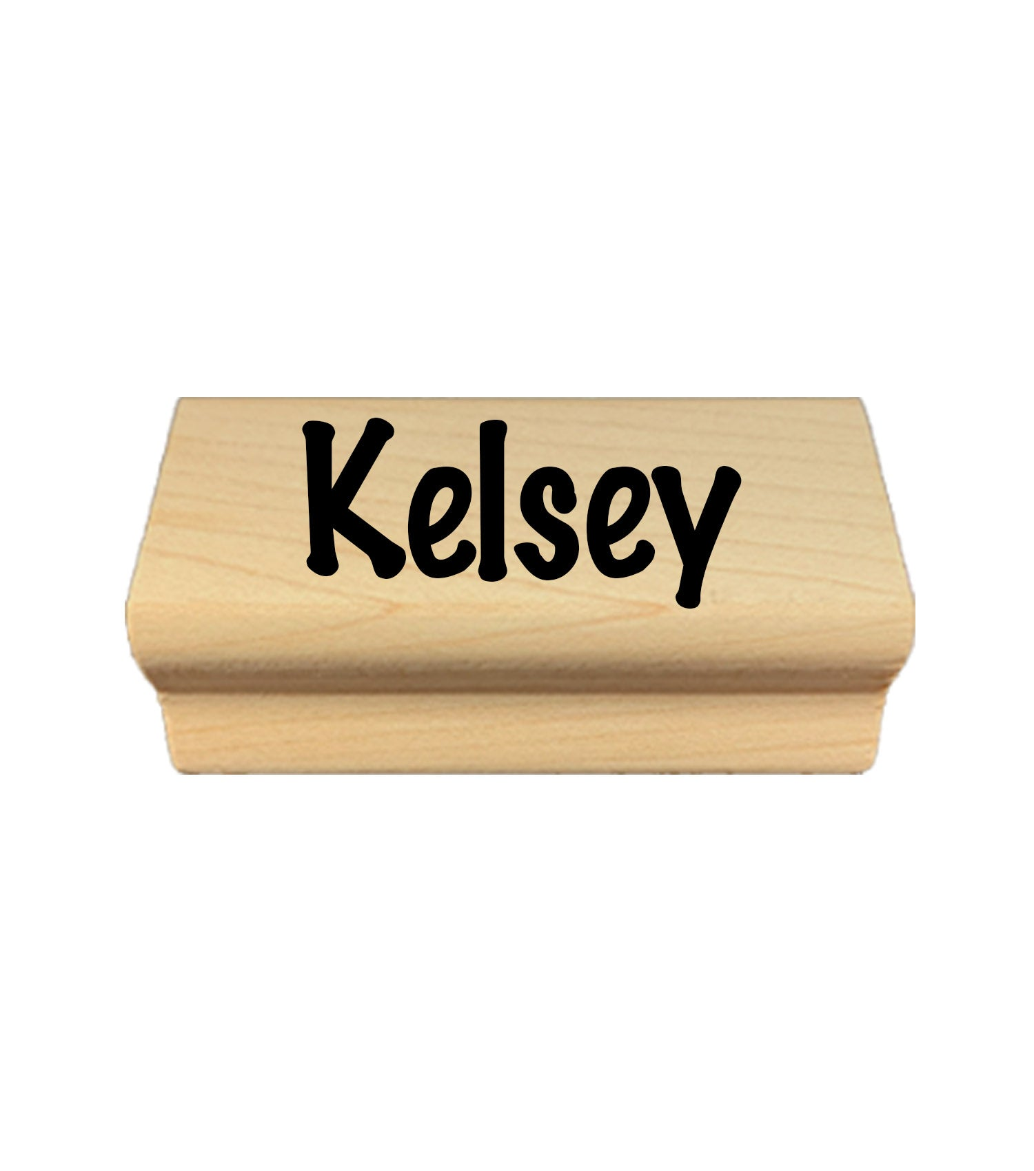 Wooden Kids Name Stamp + Pad