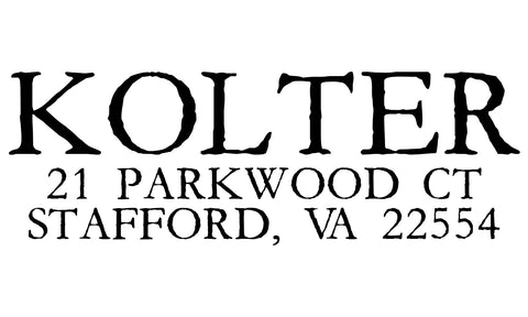 Kolter Address Stamp