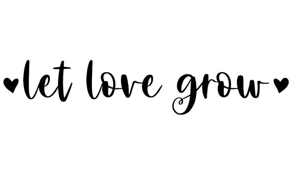 Let Love Grow Wedding Stamp