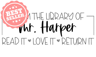 Library Teacher Stamp
