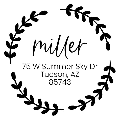 Miller Address Stamp