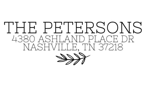 The Petersons Address Stamp
