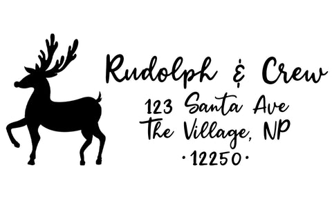 Rudolph Address Stamp