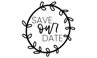 Save Our Date Wedding Stamp