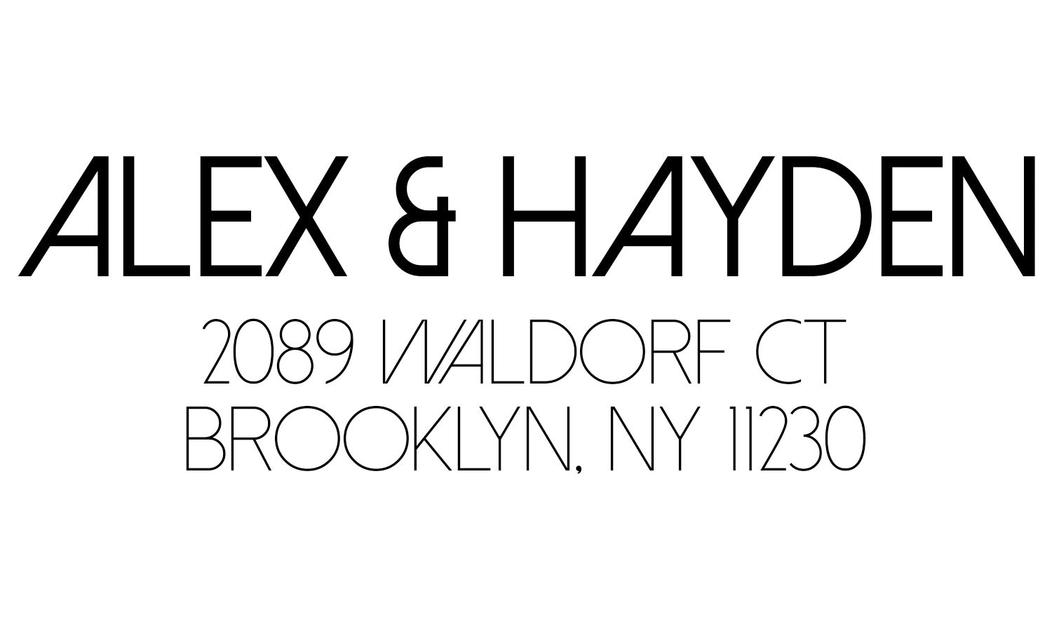 Sophisticated Couple Address Stamp