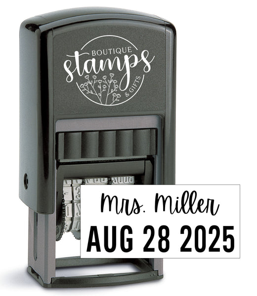 Date Teacher Stamp