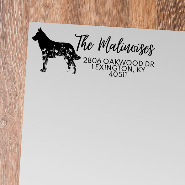 Malinois Address Stamp