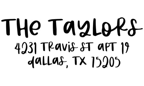 The Taylors Address Stamp