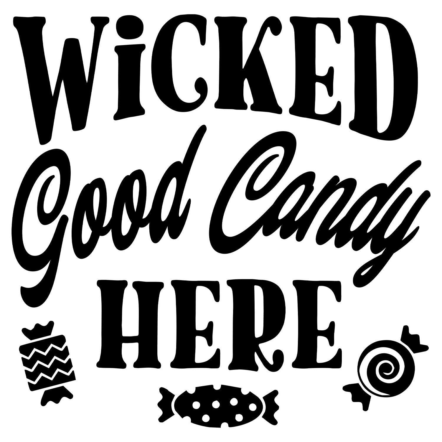 Wicked Good Candy Here Halloween Stamp