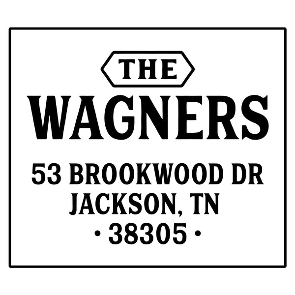 The Wagners Address Stamp