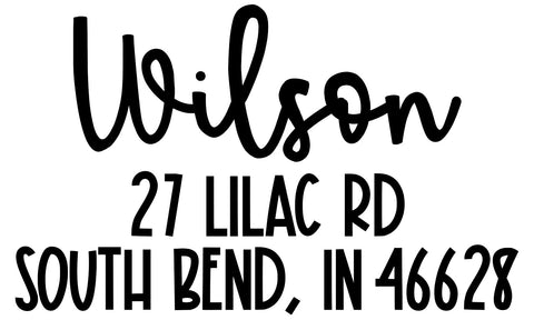 Wilson Address Stamp