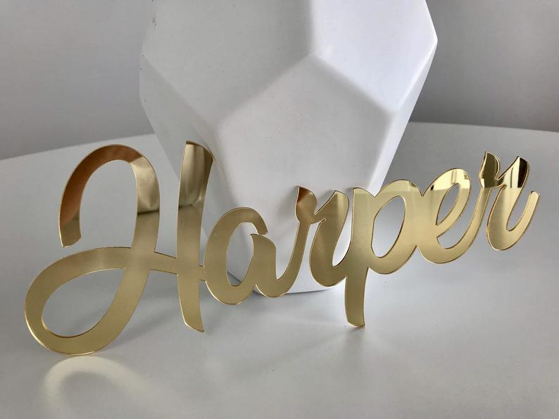 Acrylic Laser Cut Name Letters Mirror Words