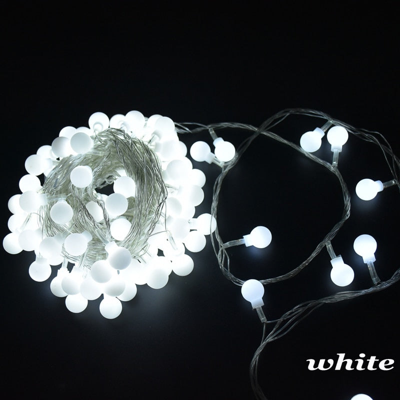 Garland LED Ball String Light