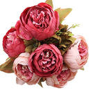 12 Head Artificial Silk Peony Bouquets