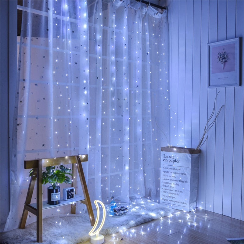 3m x3m 300 USB Powered LED Curtain Lights