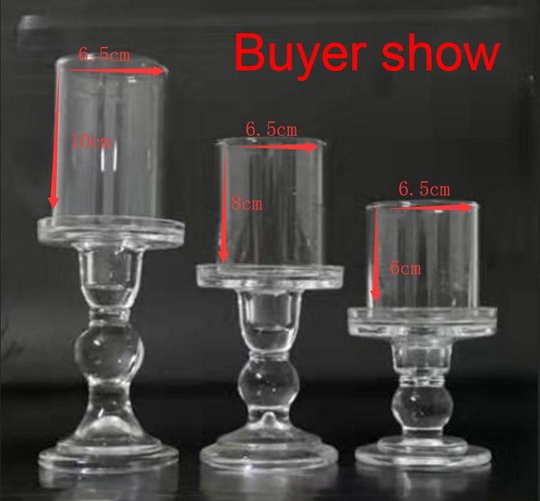 6.5cm Glass Candle Holder