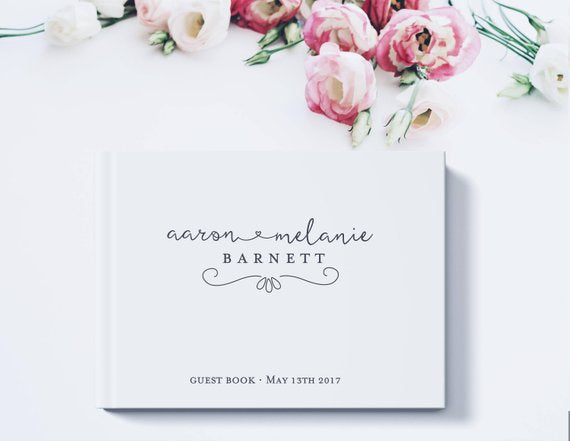 White Theme Wedding Decoration Personalized Guest Book