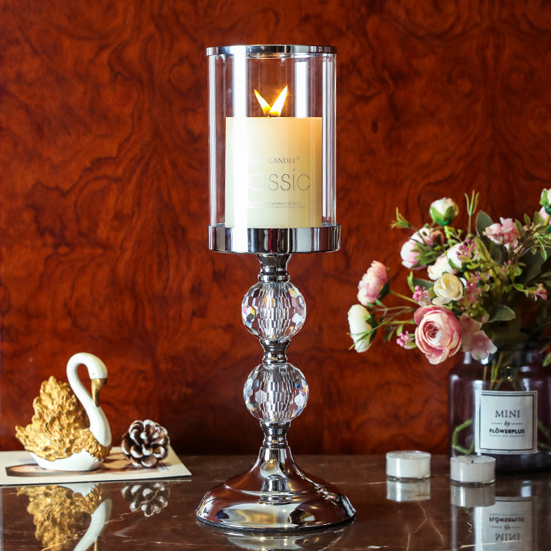 Europe Style Crystal Candlestick Holder