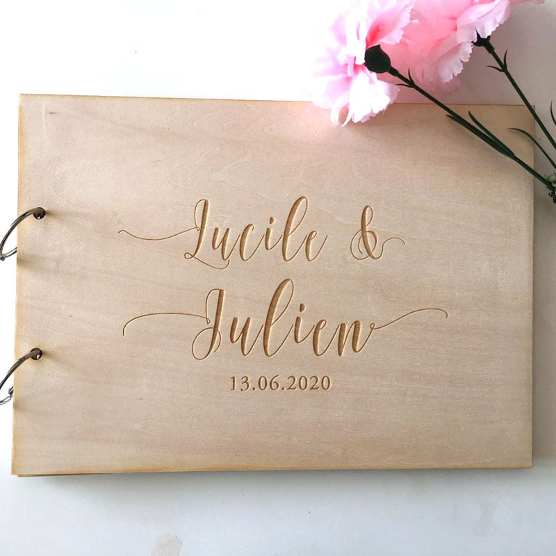Rustic Wood Wreath Wedding Guest Book