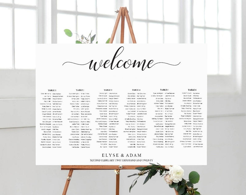 Guest List Wooden Welcome Sign