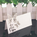 50pcs White Laser Cut Name Place Cards