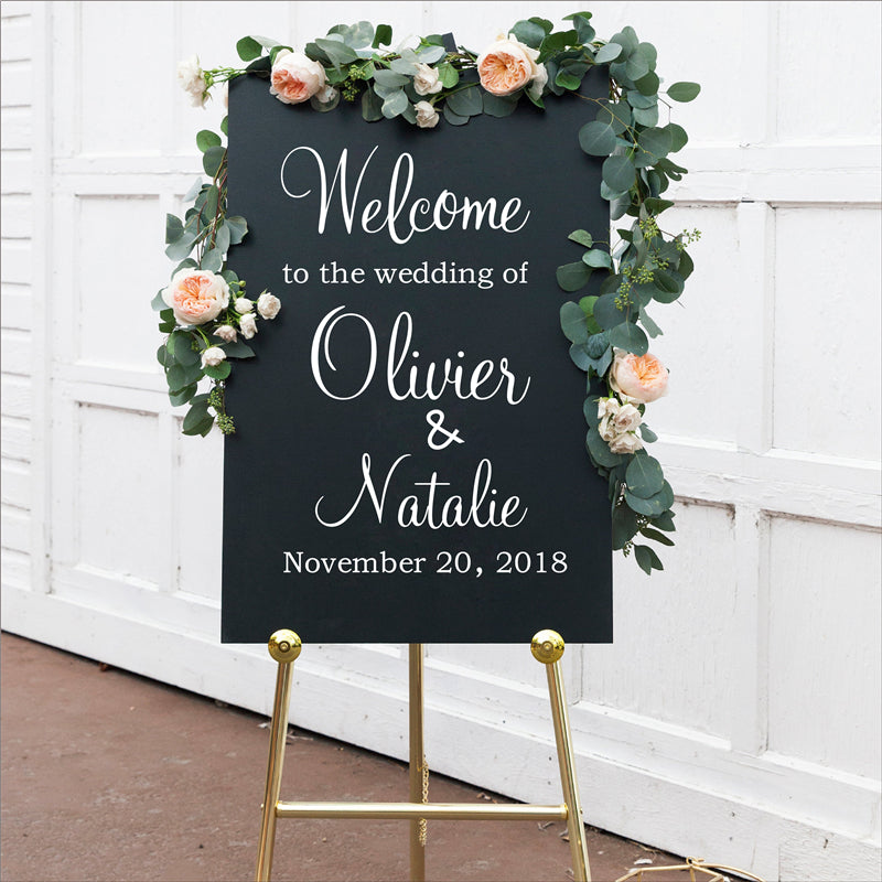 Personalized Custom Wedding Welcome Signs